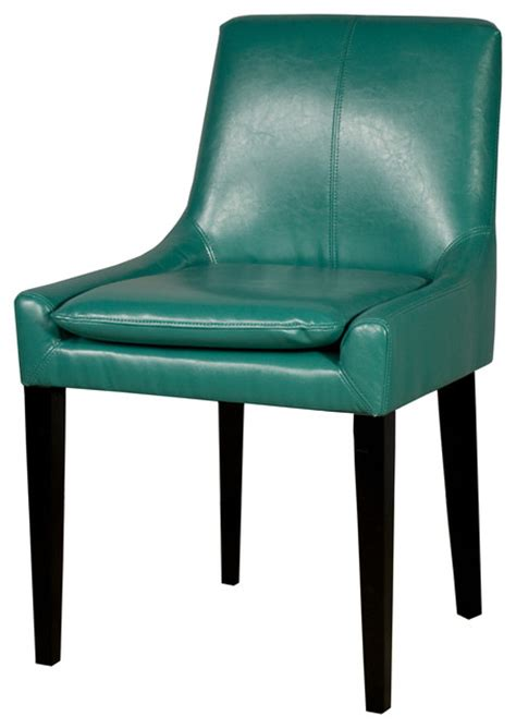 turquoise dining chairs bonded leather chair turquoise contemporary