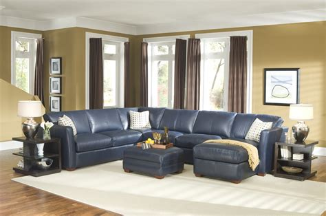 leather sectional living room furniture brilliant navy blue leather sectional sofa navy blue