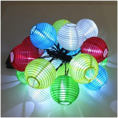 small led string lights solar colorful lantern 20 led string lights