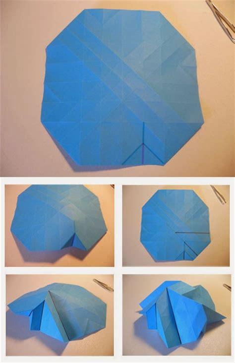origami mawar cara membuat origami bunga mawar biru tutorial kerajinan