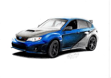 Fast And Furious 7 Car Wallpaper by Subaru Impreza Wrx Sti Fast Furious 7 Car Drawing By