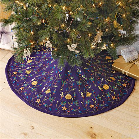 embroidered tree skirts decor embroidered tree skirt