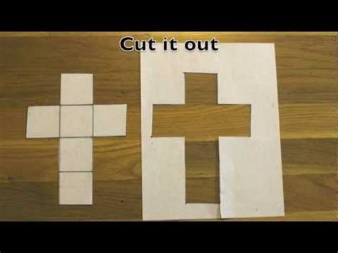 how to make a cube out of card how to make a cube out of a sheet of paper