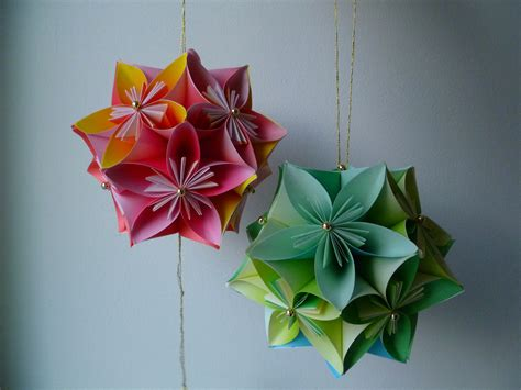 kusudama flower origami kusudama threads of my