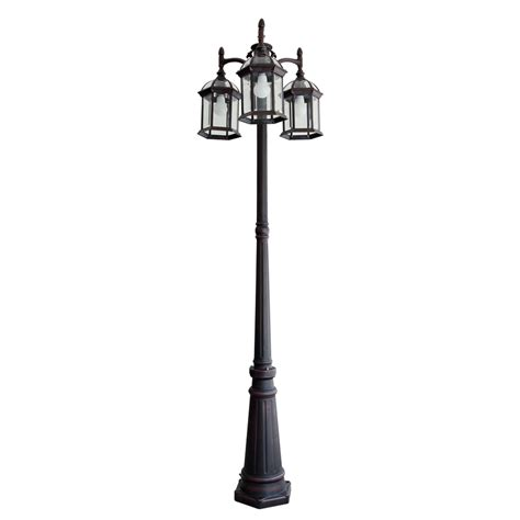 outdoor light post base shop portfolio 78 2 in h rust post light at lowes