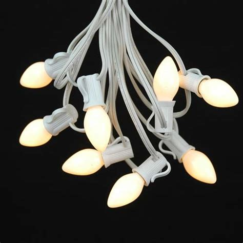 c7 white lights white and clear c7 bulbs novelty lights inc