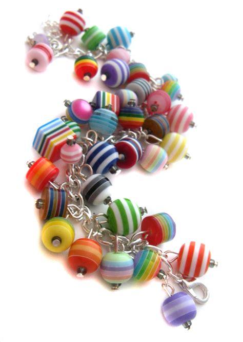 charming bead shop stripey bead charm bracelet by cakes on deviantart