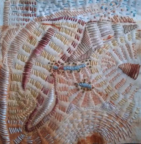 stitching onto fabric seashore