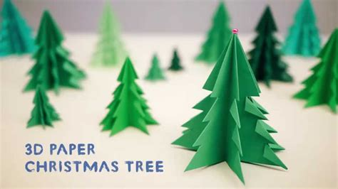 papier weihnachtsbaum 3d paper tree
