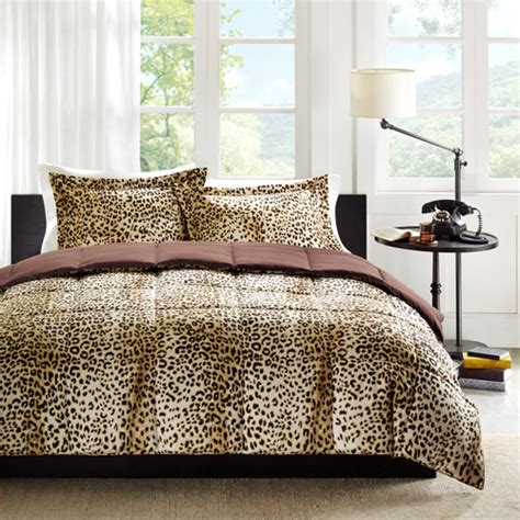 cheetah bed set home essence cheetah bed comforter set walmart