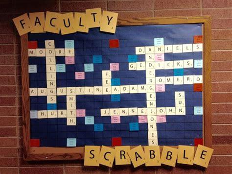interactive scrabble board 1000 ideas about scrabble bulletin boards on