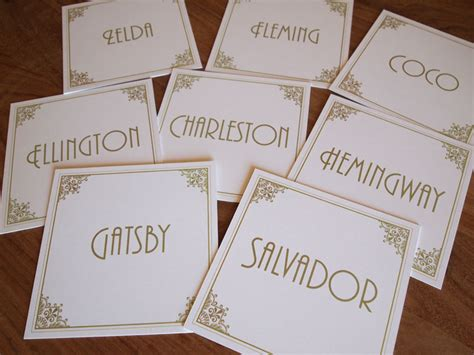 deco table name cards table numbers table names wedding vintage style deco