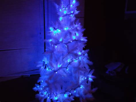 white tree with blue lights blue and white lights homesfeed