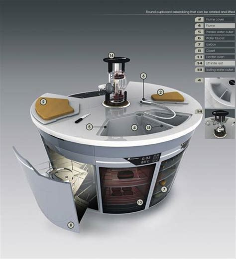 future kitchen design inteligent kitchen design concept for the future