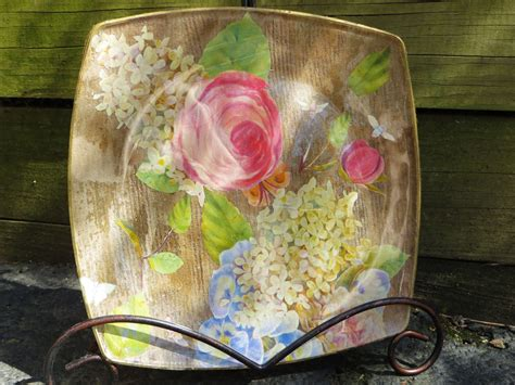 how to decoupage on glass how to decoupage a glass plate