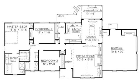 country one story house plans country home plans by natalie f 1674