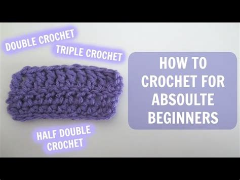 how to knit for absolute beginners how to crochet for absolute beginners part 1 doovi