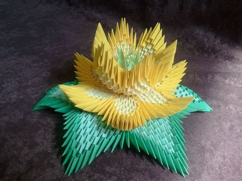 3d origami flower how to make 3d origami lotus flower 3d origami