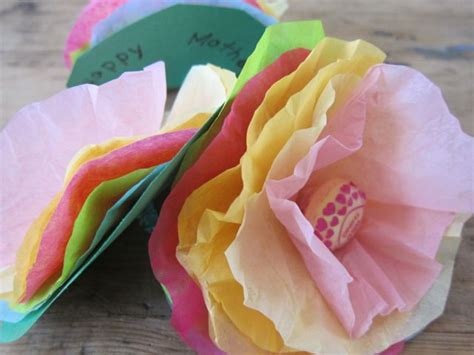 tissue paper flowers craft how to make lollipop tissue paper flowers