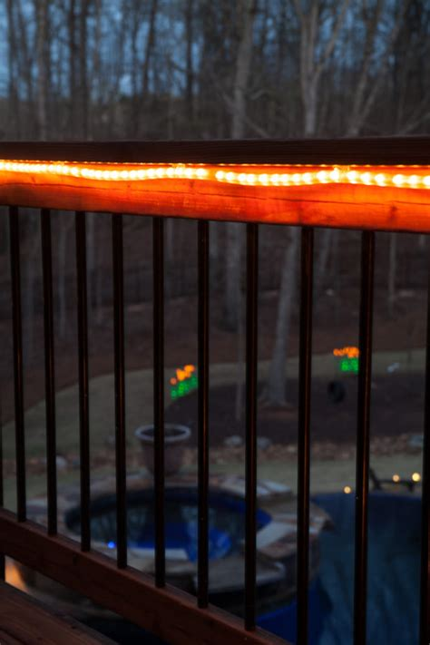 rope lights for decks deck lighting ideas with brilliant results yard envy