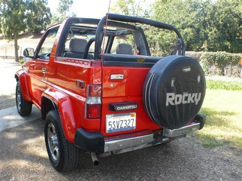 Daihatsu 4x4 by 1990 Daihatsu Rocky Sx 4x4 Convertible