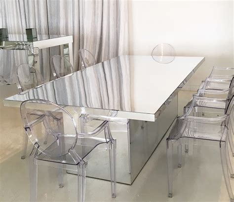 home dining table mirrored dining table