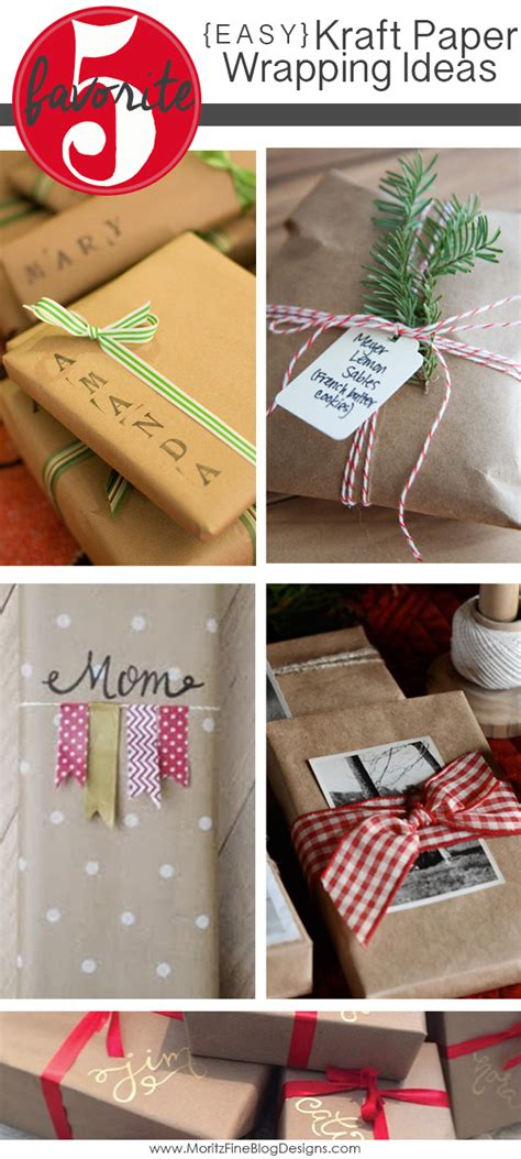 craft paper wrapping easy kraft paper wrapping ideas