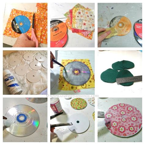recycled craft projects recycle craft cd coasters crafts by amanda