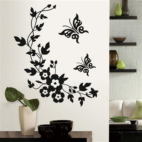 sticker decor for walls aliexpress buy newest classic butterfly flower home