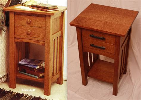 mission woodworking wood magazine arts and crafts bedside