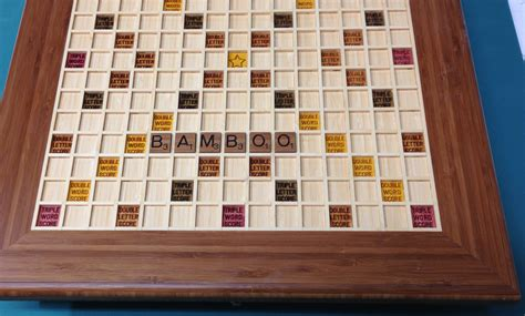 wood scrabble board custom scrabble board
