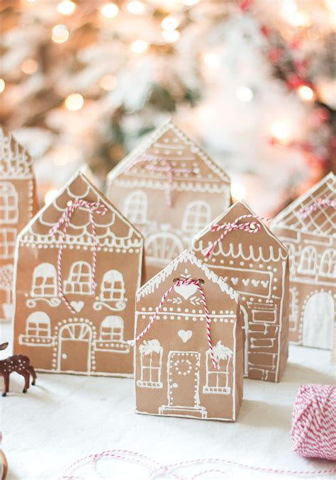 paper bag gingerbread house craft gingerbread house paper bag gift wrap idea