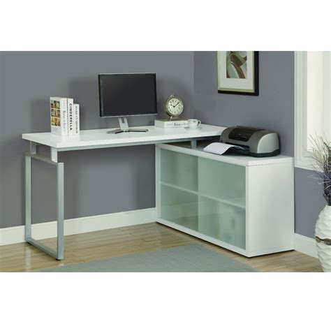 modern corner desks langston corner desk in white modern office desks vancouver