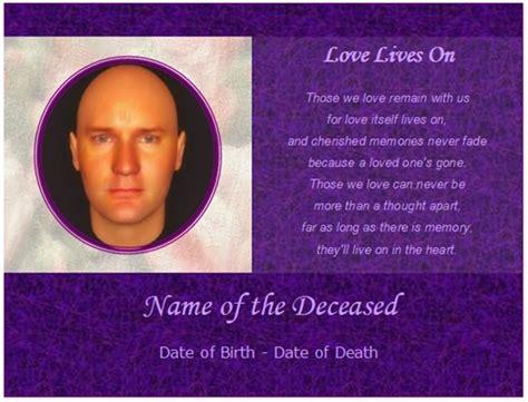 how to make a memorial card memorial cards sles