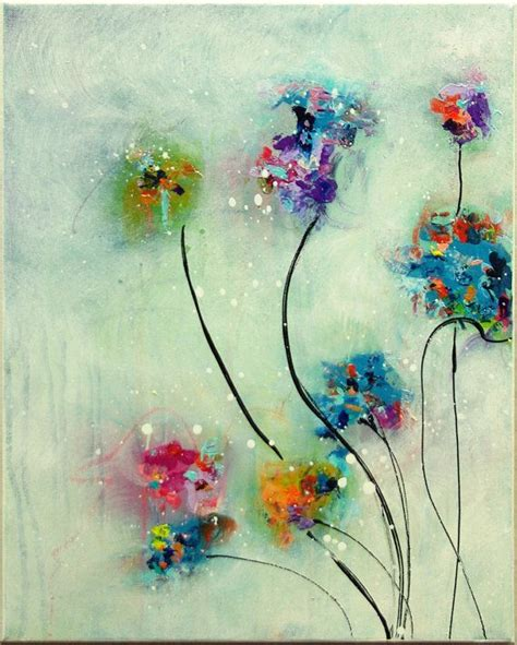acrylic painting flowers canvas flower painting original abstract painting acrylic