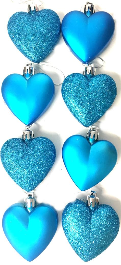 turquoise baubles 8 glitter teal turquoise baubles