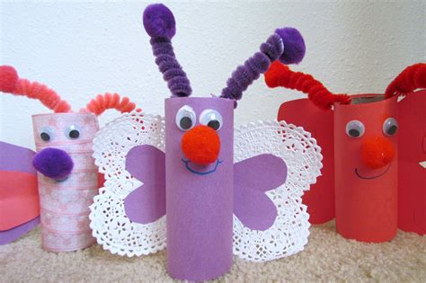 how to make a paper crafts how to make a butterfly from toilet paper tp