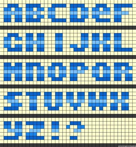 perler bead letters abc perler bead pattern perler bead
