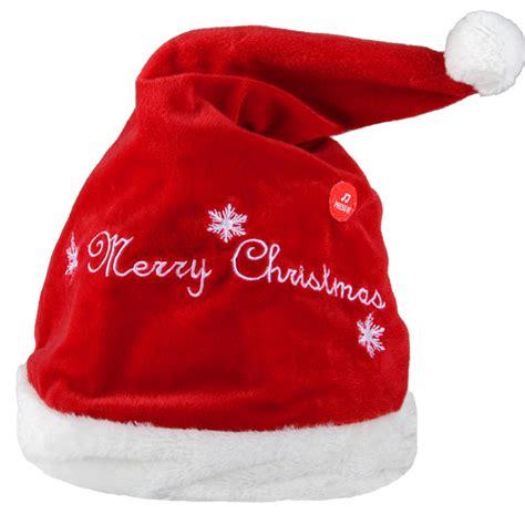 musical santa hat that animated musical moving jingle bells novelty