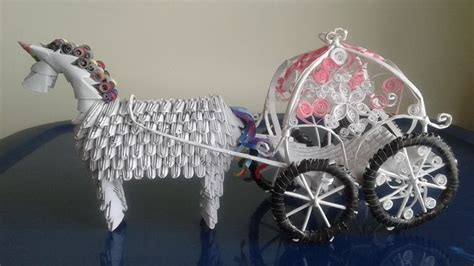 origami carriage 3d origami unicorn wedding carriage paperworldcreation