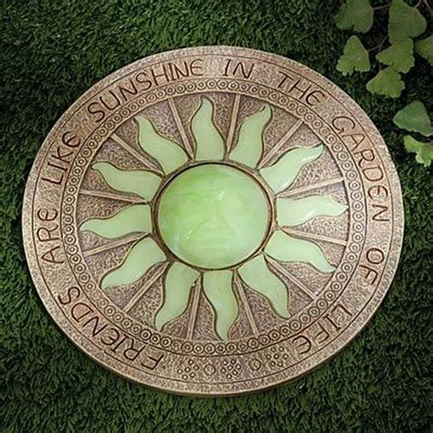glow in the paint stepping stones enhance your yard by glow in the stepping stones