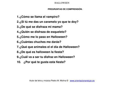 preguntas biblicas con respuestas pdf cancion de halloween para ni 241 os preguntas comprensi 243 n