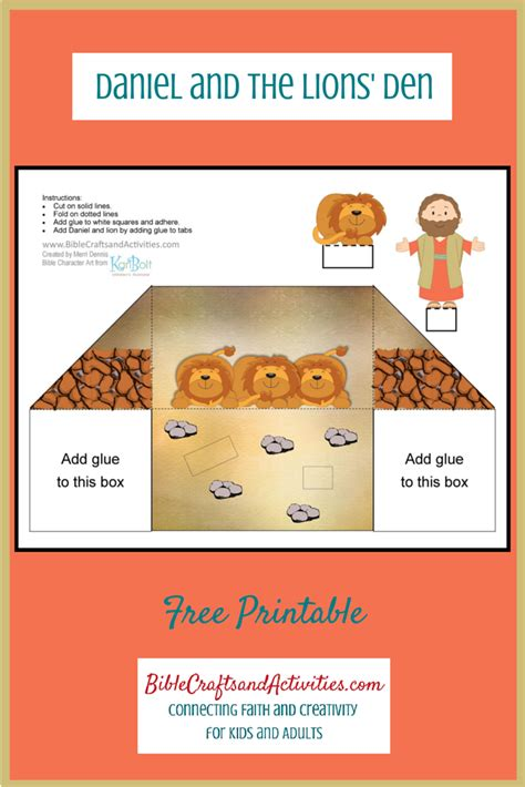 daniel and the lions den crafts for daniel and the lions den free printable diorama use for