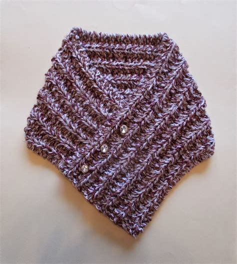 knitted neck warmer free pattern tweedy knit neck warmer allfreeknitting