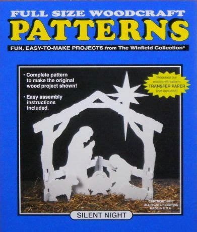 nativity silhouette woodworking patterns silent nativity wood craft pattern small size