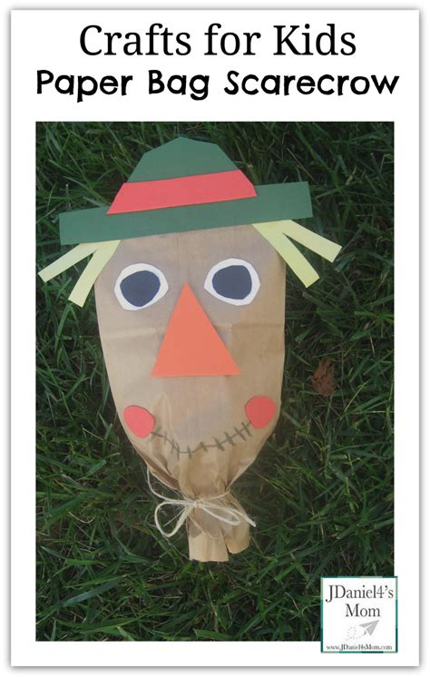 paper bag crafts for craft for paper bag scarecrow