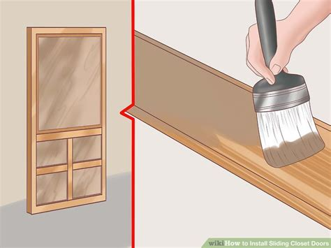 how to install sliding closet doors on tracks how to install sliding closet doors 11 steps with pictures