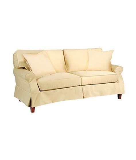 slipcovered sleeper sofas slipcovered skirted pillow back sleeper sofa