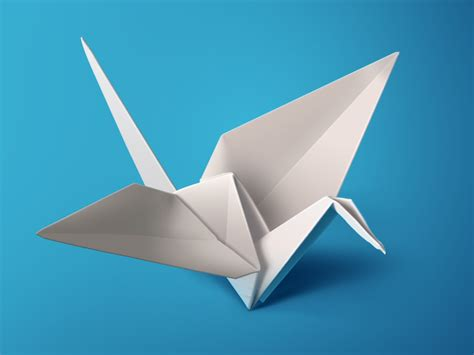 paper bird origami white origami bird ps by charhen dribbble