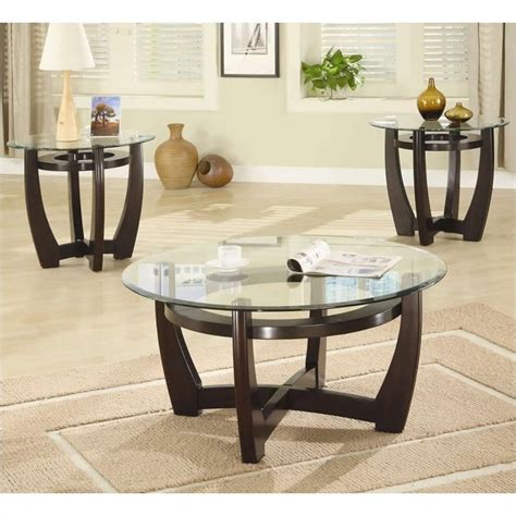 glass living room table sets coaster 3 contemporary glass top occasional table
